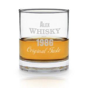 Personlig gave - Whiskyglas med indgravering