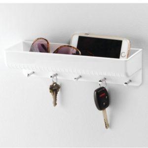 Hvid nøgleholder til væg