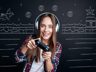Kvinde gamer