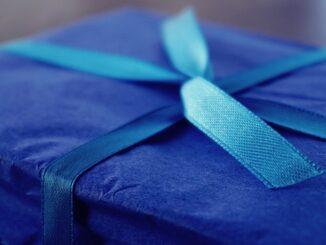 blå gave