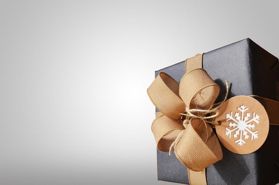 Sort gave med sløjfe