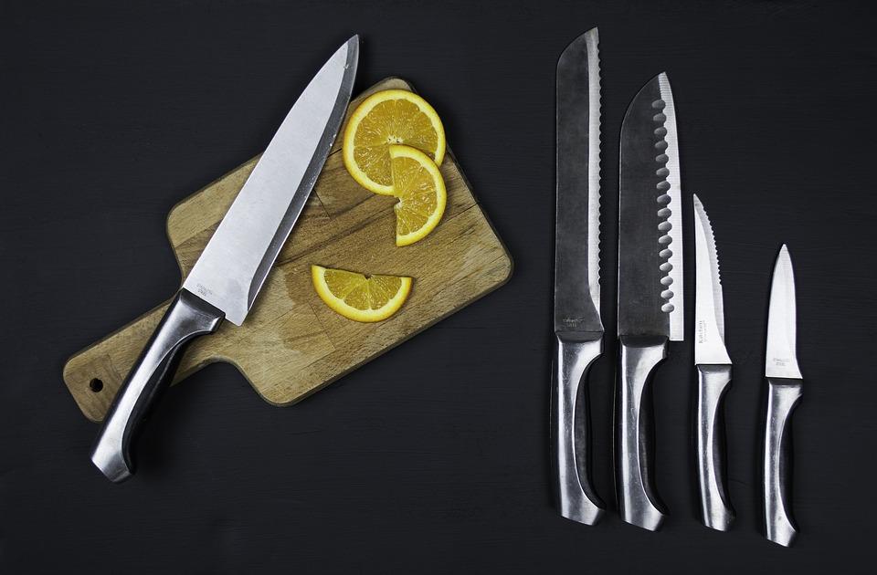 mad, citron, skærebræt
